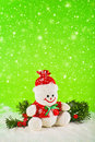 Snowman for christmas and new year holidays Royalty Free Stock Photos
