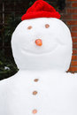 Snowman close up Stock Photo