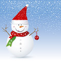 Snowman design Stock Images