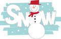 Snowman frosty the comes once a year but this one will last all year round Stock Photo