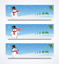 Snowman Header Royalty Free Stock Image