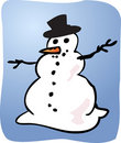 Snowman illustration Royalty Free Stock Photography