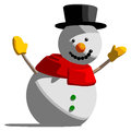 Snowman isolated vector illustration on white background Stock Images
