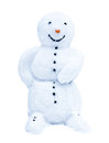 Snowman isolated on white background Royalty Free Stock Image