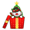 Snowman Mascot the event activity Stock Images