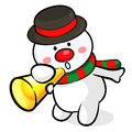 Snowman Mascot the event activity Stock Photography