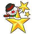 Snowman Mascot the event activity. Christmas Character Design Se Stock Images