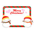 Snowman Mascot using a variety of banner designs Royalty Free Stock Images