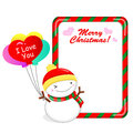 Snowman Mascot using a variety of banner designs. Christmas Char Royalty Free Stock Image