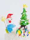 Snowman model. Royalty Free Stock Image