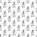 Snowman pattern seamless