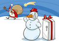 Snowman and Santa Royalty Free Stock Photo