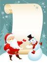 Snowman and Santa Stock Image