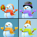 Snowman set Royalty Free Stock Photography