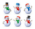 Snowman set Royalty Free Stock Photos