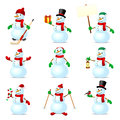 Snowman set Stock Image
