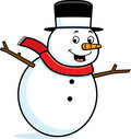 Snowman Smiling Stock Photo