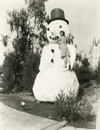 Snowman in the summer Stock Photo