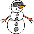 Snowman Vector Illustration Stock Photos