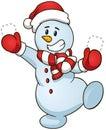 Snowman. Vector Illustration. ...