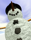 Snowman vertical Royalty Free Stock Photos