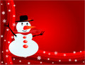 Snowman - Visiting-card Royalty Free Stock Photo