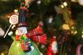 Snowman waving Royalty Free Stock Photo
