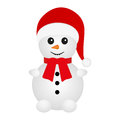 Snowman on a white background Stock Photo