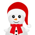 Snowman on a white background Stock Image