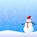 Snowman winter background Royalty Free Stock Image