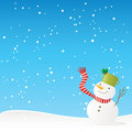 Snowman winter background Stock Photos