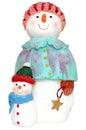Snowman woman Royalty Free Stock Photos
