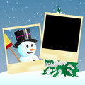 Snowman and you Stock Photo