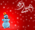 Snowmen 2009 Royalty Free Stock Photos