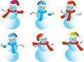 Snowmen Caps for Santy  -  Royalty Free Stock Photos