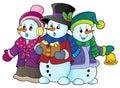 Snowmen carol singers theme image 1