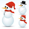 Snowmen Collection Royalty Free Stock Photo