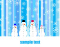 Snowmen family Royalty Free Stock Photo