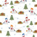 Snowmen With Gifts Pattern