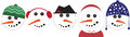 Snowmen heads frosty the snowman comes once a year but this one will last all year round Royalty Free Stock Images