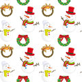 Snowmen illustration of on a white background Royalty Free Stock Image