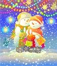 Snowmen. Royalty Free Stock Photo