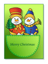 Snowmen in the pocket Royalty Free Stock Photos
