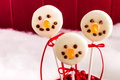 Snowmen and Reindeer Cake Pops Royalty Free Stock Photography