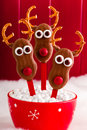 Snowmen and Reindeer Cake Pops Royalty Free Stock Photo