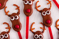 Snowmen and Reindeer Cake Pops Stock Photography
