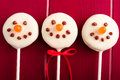 Snowmen and Reindeer Cake Pops Royalty Free Stock Images