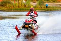 Snowmobile watercross novyy urengoy russia september undefined competitor s brp ski doo no competes at the annual yamal Stock Images