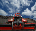 Snowplough or snowplow mount etna sicily italy Stock Images