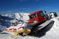 Snowplow remove snow ski slope Royalty Free Stock Image